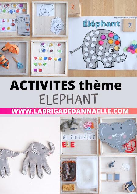 activite theme elephant