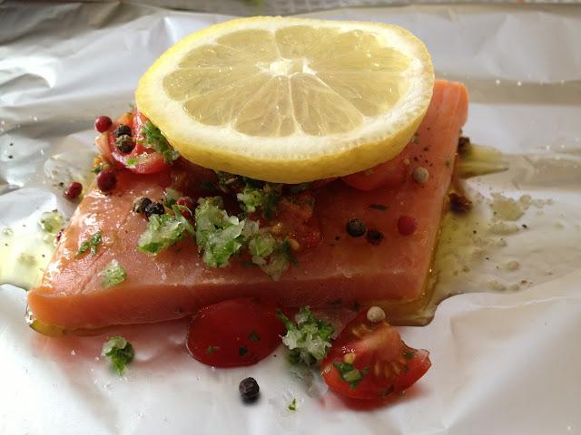 pranzo di ferragosto: salmone in cartoccio
