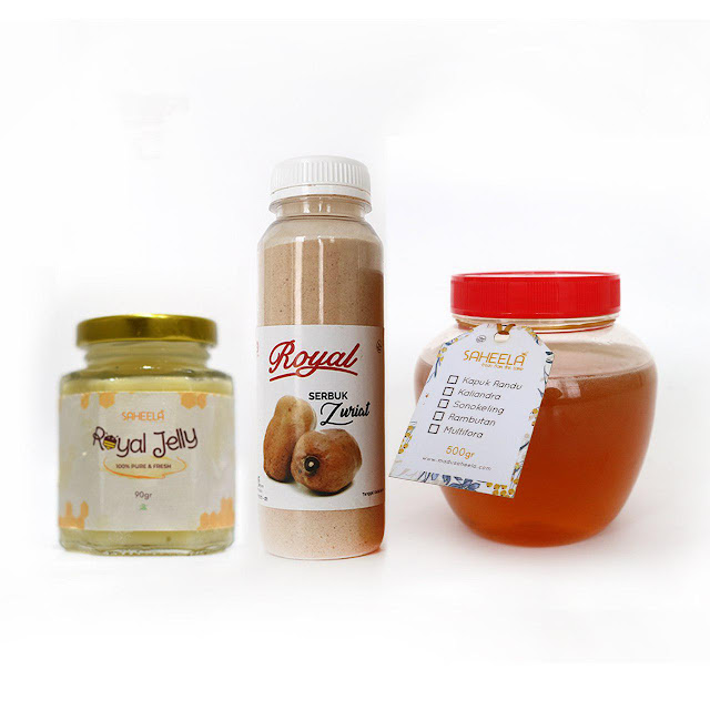 paket promil alami | serbuk buah zuriat | madu | royal jelly |