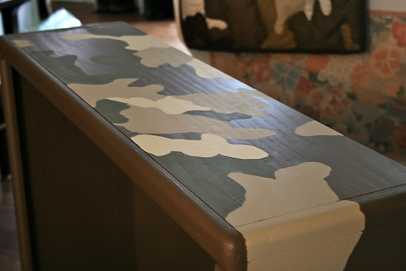 A Tutorial How To Paint Camouflage Bookcase