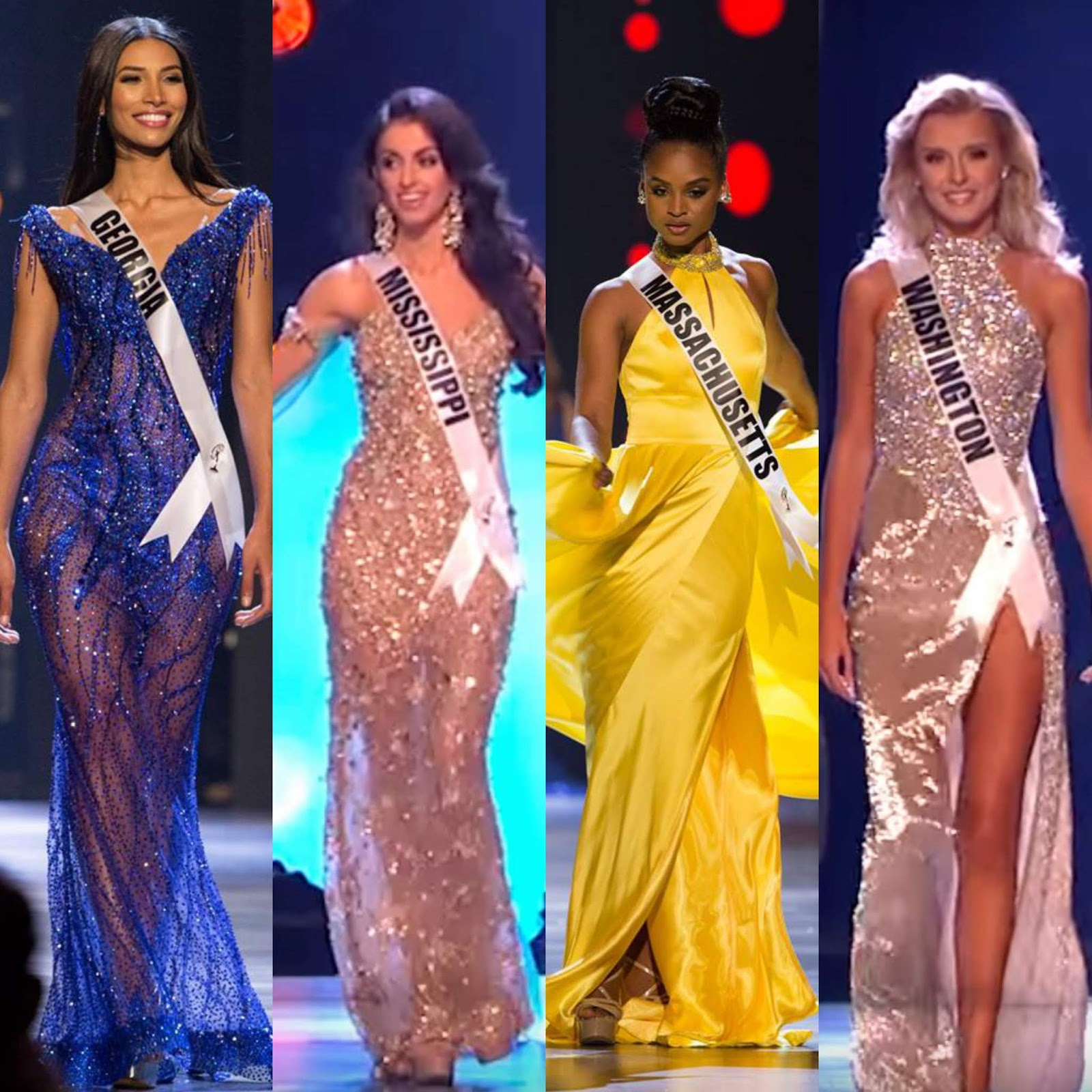 SASHES AND TIARAS.....Miss USA 2018 Preliminary Evening Gowns: My ...
