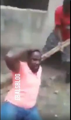 Man Caught Trying To Sleep With His Brother's Wife Gets Flogged (VIDEO)