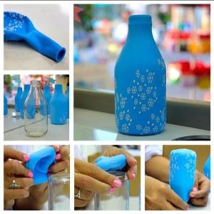 Aprende c mo decorar botellas con globos de cumplea os for Decoraciones de botes de plastico