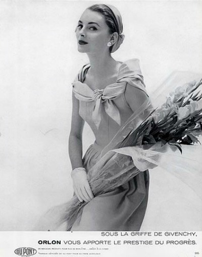 Model wearing Givenchy in 1954 Ad