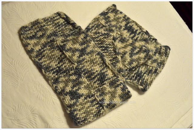 robótki ręczne na drutach szalik męski