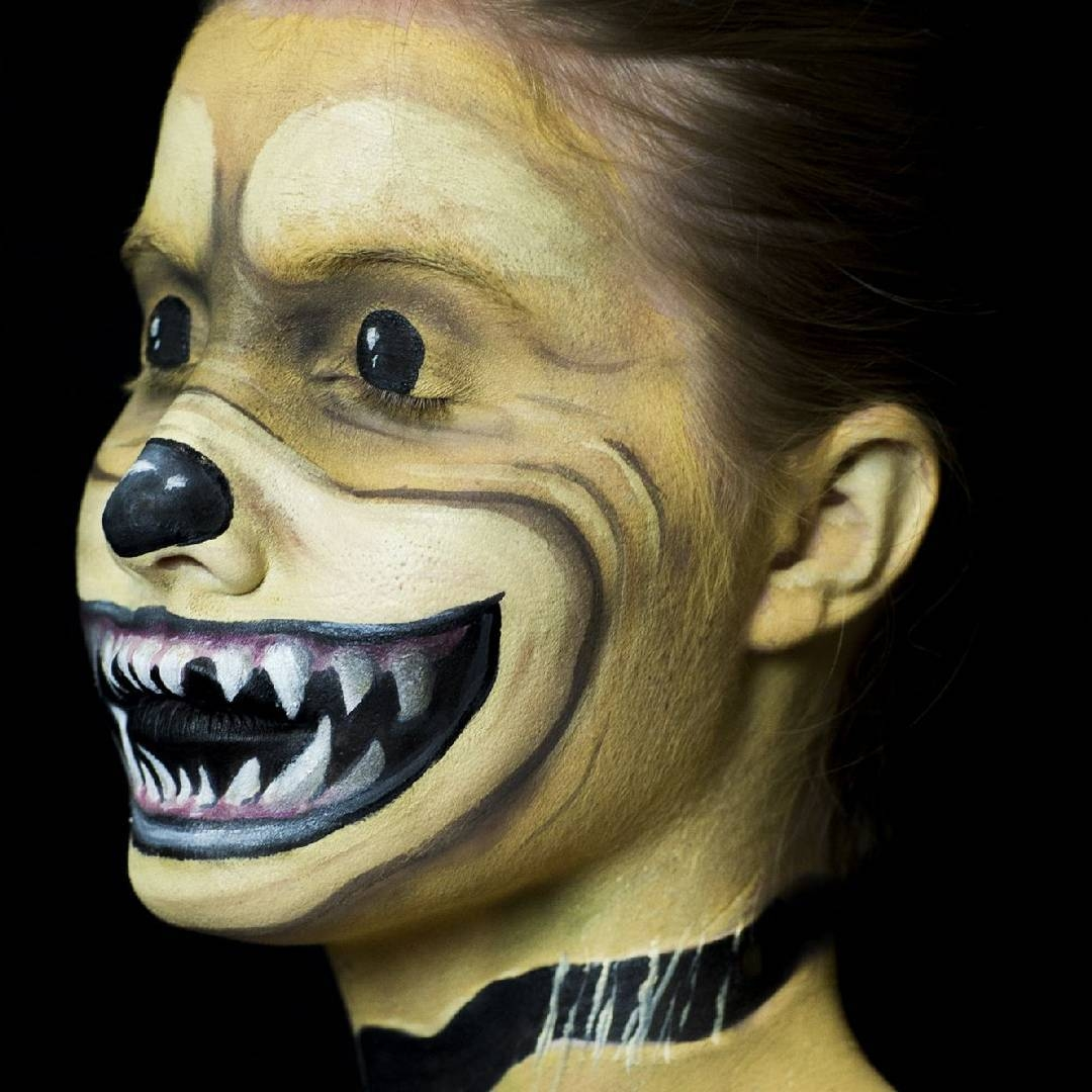 08-Teddy-Bear-Kim-Witte-Face-and-Body-Painting-Makeup-Transformations-www-designstack-co