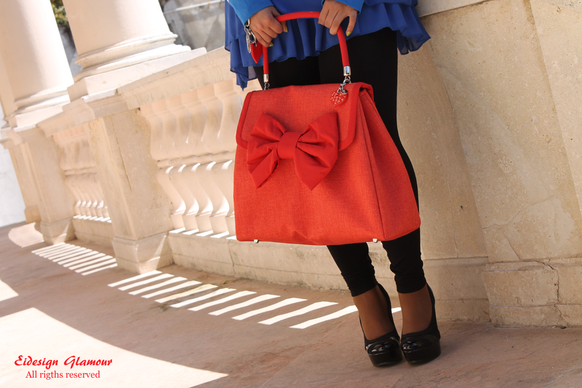 le monde du reve- bag design - red coral-