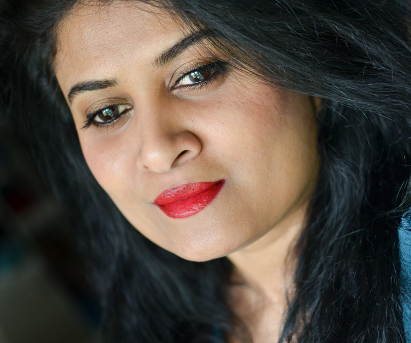 Easy Holiday Makeup Look:  Red Lips - My Version of  Winged Liner