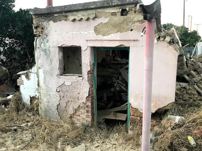 Εικόνες βιβλικής καταστροφής στο Μπούρτζι