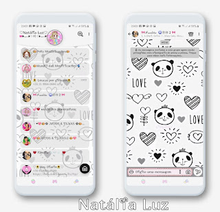 Panda Love Theme For YOWhatsApp & Aero WhatsApp By Natalia Luz
