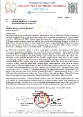 Pakai Peraturan Dewan Pers, Pemda Abaikan Undang-Undang No.30 Tahun 2014 Tentang Administrasi Pemerintahan