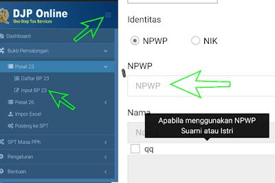mengetahui referensi pemilik NPWP