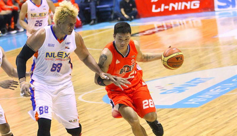 Gary David heads Bolts locals in scoring to take game 1 from NLEX