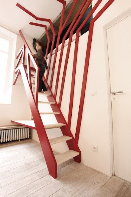 front side staircase design