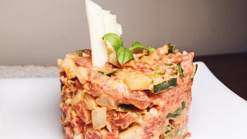 Tartare de bœuf italien