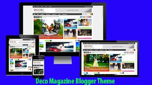 Deco Magazine Responsive Blogger Theme - Responsive Blogger Template