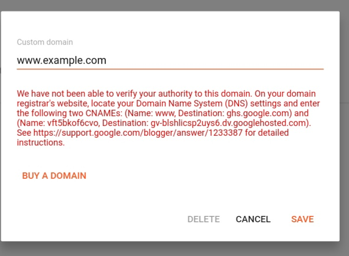 How To Add Custom Domain To Blogger