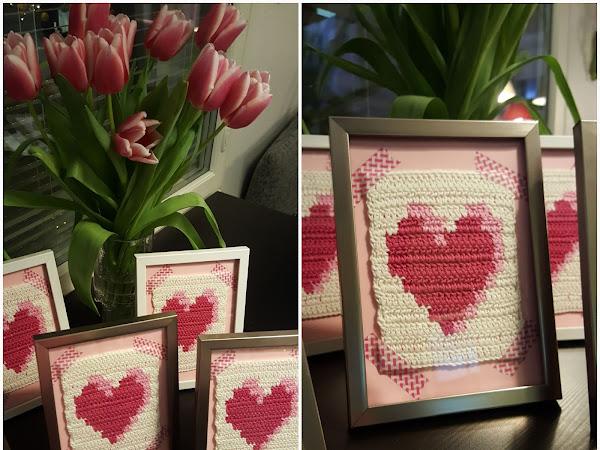 Virkkurin kuosikalenteri - helmikuu - sydäntaulut