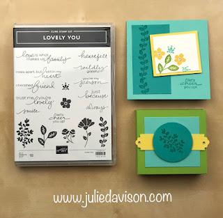"16 Alternative ""Get & Go"" Project Ideas ~ Stampin' Up! Lovely You Cards ~  www.juliedavison.com #stampinup"