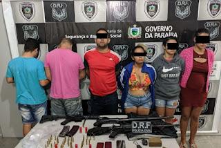 Polícia prende funcionário da UEPB e mais cinco pessoas acusadas de assaltos a bancos na PB
