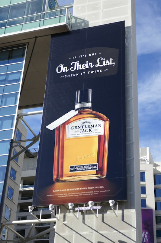 Gentleman Jack on their list billboard