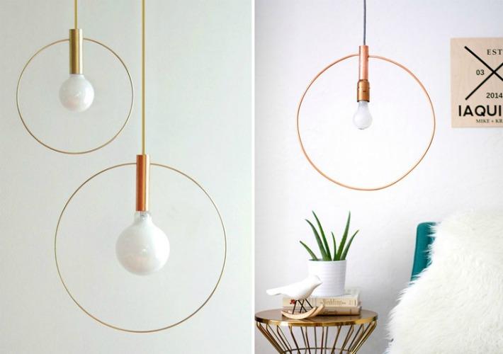 6 Lámparas handmade para el dormitorio
