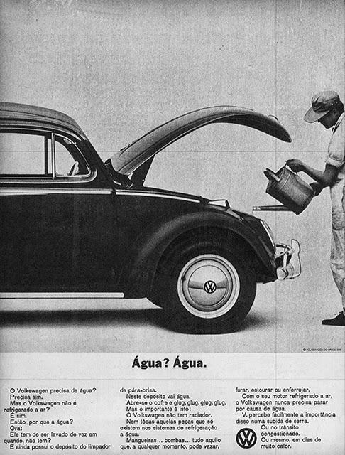 Anúncio da Volkswagen veiculado em 1965 promovendo o Fusca