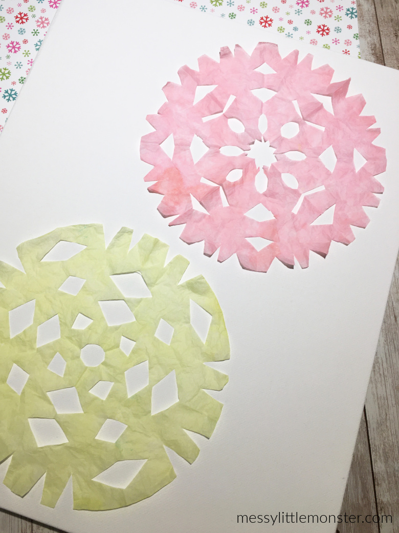 coffee filter snowflakes craft for kids