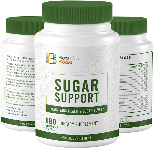 Botanica Boost 450mg Blood Sugar Support Supplement
