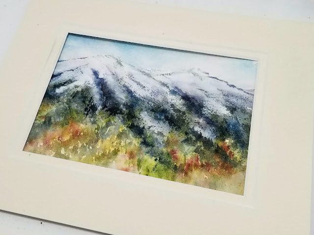 Watercolor ground used for adding whites to a watercolor painting.  ©2019 Christy Sheeler Artist.  She Must Make Art.  All Rights Reserved.