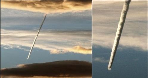 Φλεγόμενα παράξενα αντικείμενα πέφτουν αργά απο τον ουρανό (vid)