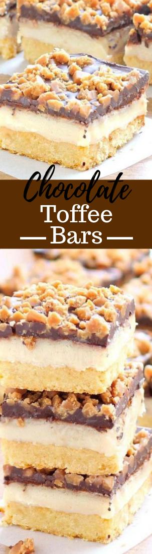 Chocolate Toffee Bars Recipe#cakerecipe