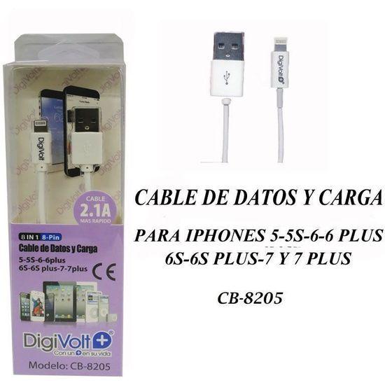 CABLE DE DATOS Y CARGA PARA IPHONE