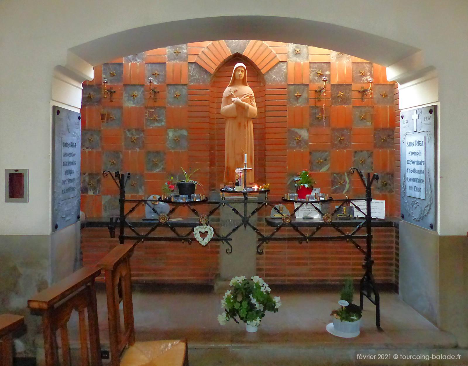Sainte Rita, Église Notre-Dame de Consolation, Tourcoing