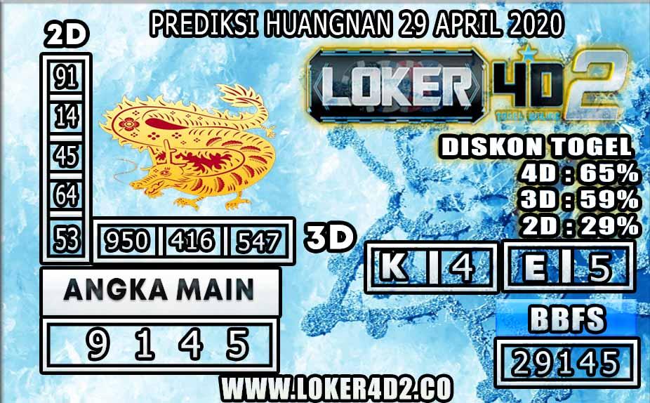 PREDIKSI TOGEL HUANGNAN LOKER4D2  APRIL 2020