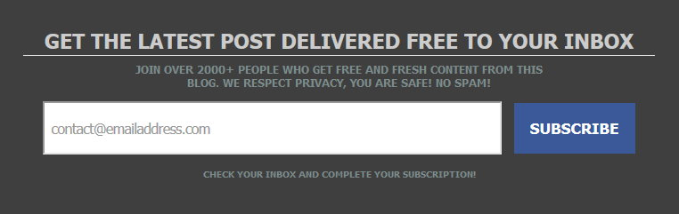 How Add Premium Email Subscription Box Below Blogger's Post