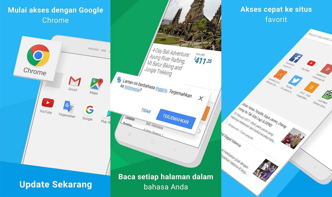 10 Aplikasi Browser Android Terbaik - Chrome