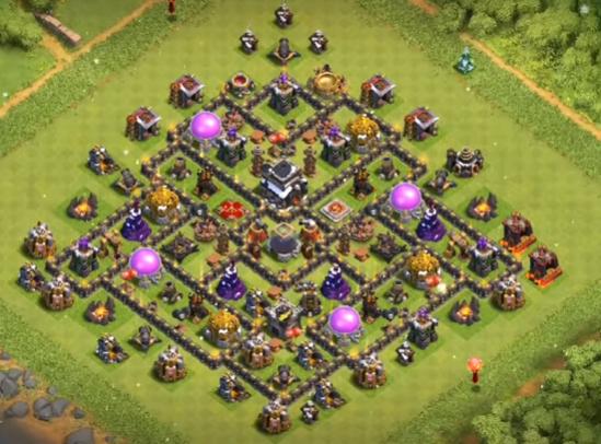 base coc th 9 farming dark elixir