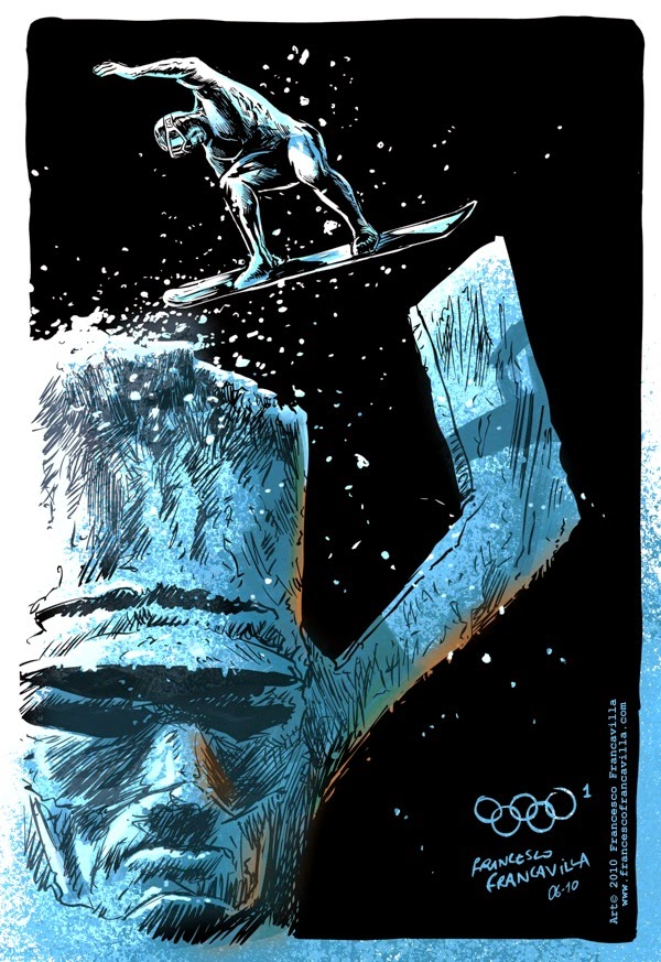 07-The-Silver-Surfer-Snowboarding-Francesco-Francavilla-Winter-Superhero-Olympics-www-designstack-co
