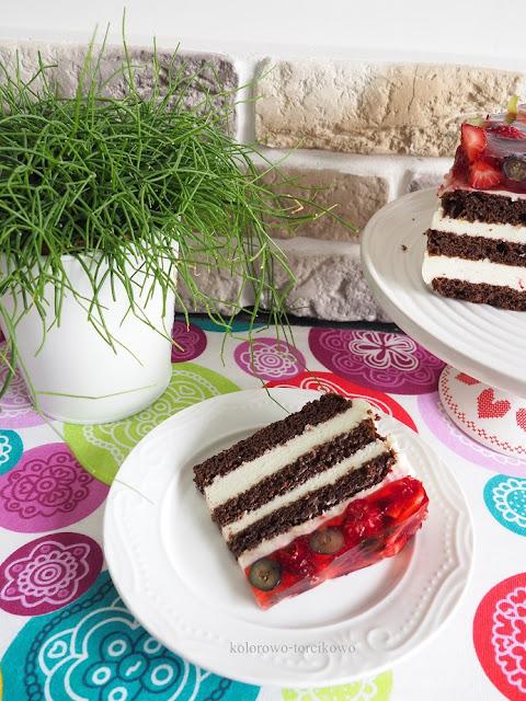 tort serowo czekoladowy