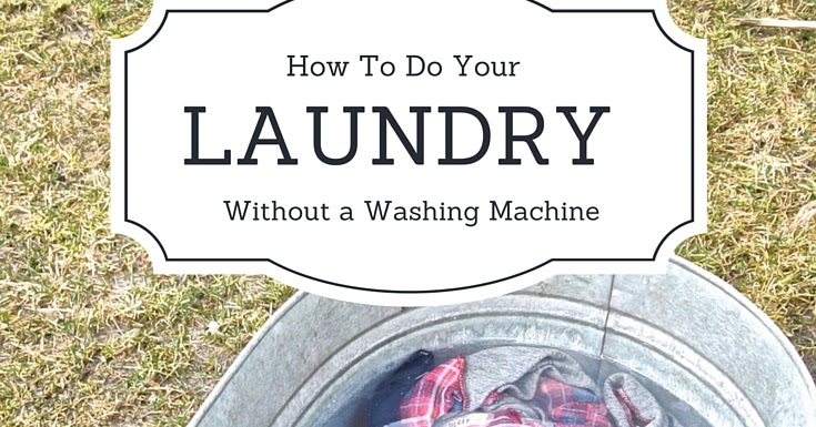 how to do laundry without a washing machine