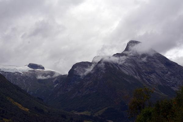 isbre tåke fjell