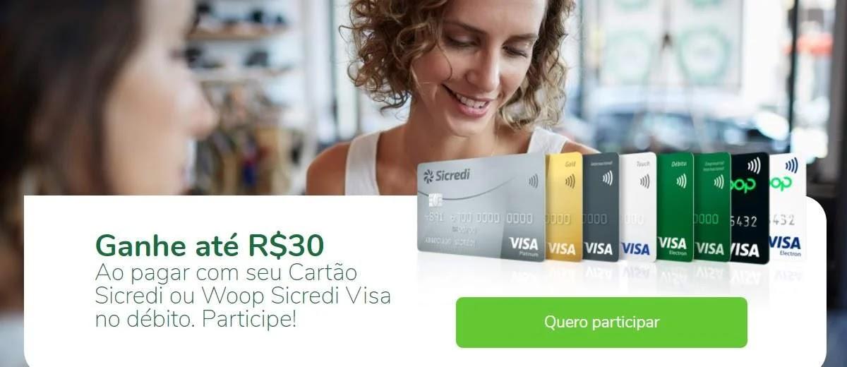 Promoção Cartão Visa Sicredi 2020 Ganhe Valor de Volta Sua Conta
