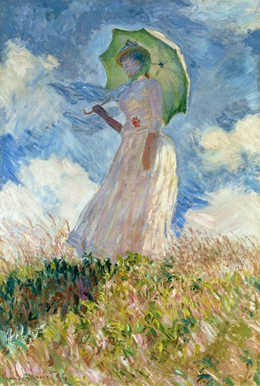 鑑賞空間・忘れられない作品: クロード・モネ 「左向きの日傘の女」