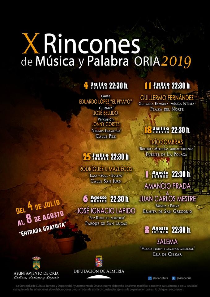 X RINCONES DE MÚSICA Y PALABRA