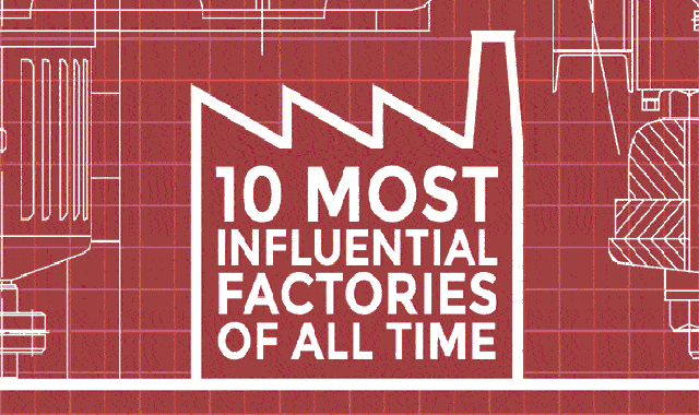 10 Most Influential Factories Of All Time #infographic