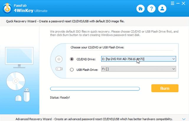 حدف وإزالة وكسر كلمة سر ويندوز 7 و 8 و 10 و xp عند نسيانه تجاوز باسورد ويندوز passfab 4winkey