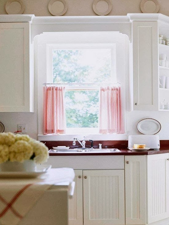 kitchen window ideas, window curtains