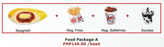 Jollibee party package A