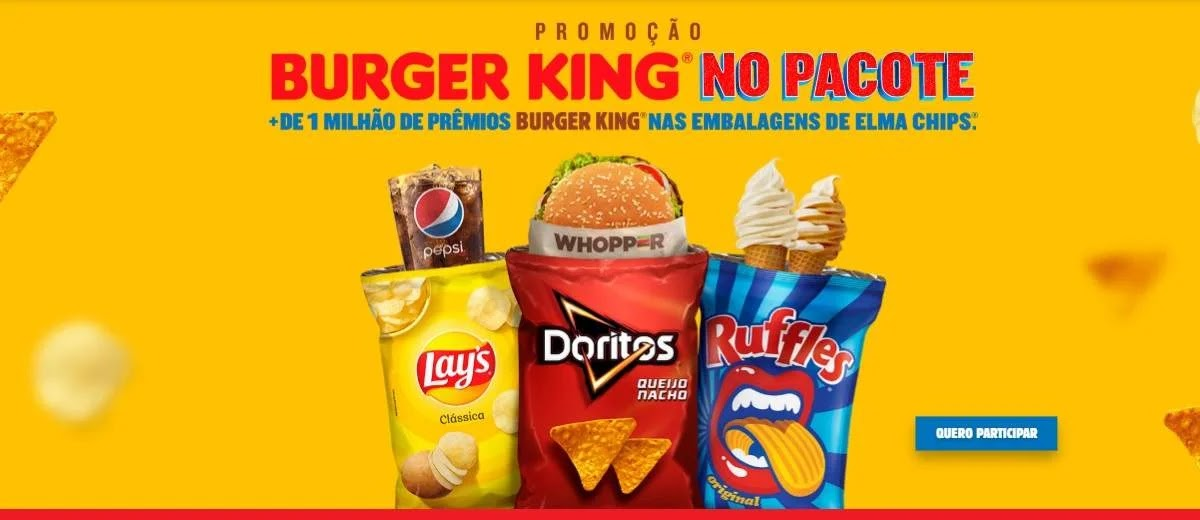 Promoção Batatas Lays Burger King Dentro Embalagem